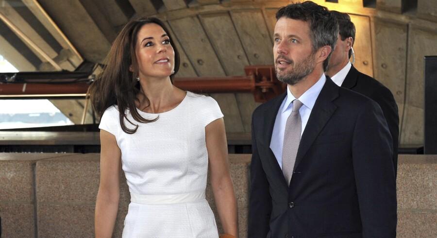 Kronprinsesse Mary og kronprinsprins Frederik.
