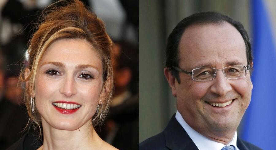 Den franske skuespiller Julie Gayet og den 18 år ældre franske præsident, Francois Hollande.