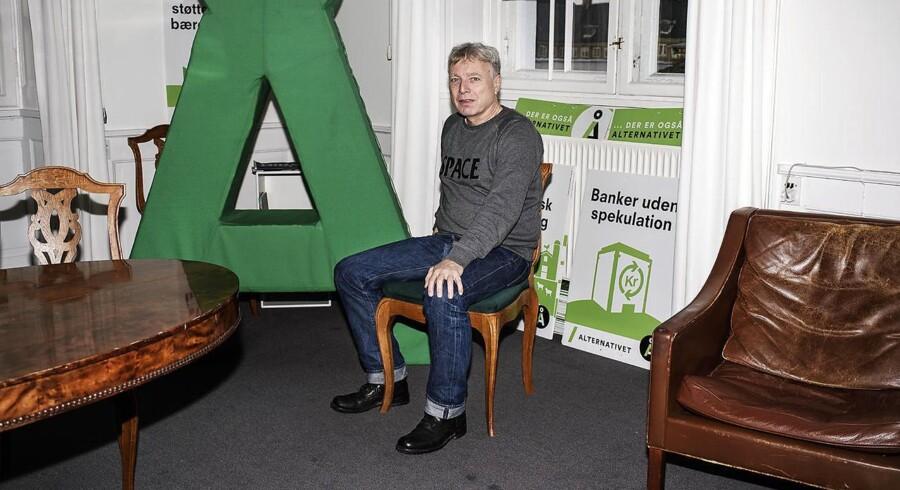 Uffe Elbæk, politiker og politisk leder af partiet Alternativet.
