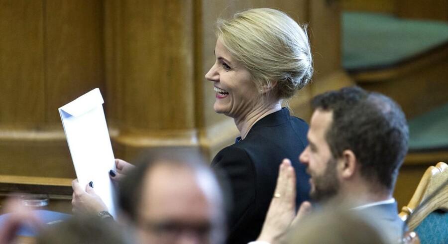 Statsminister Helle Thorning-Schmidt i forbindelse med tirsdagens spørgetime.