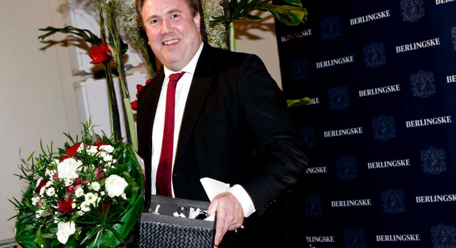 Berlingske Fonds prisuddeling i konferencesalen. Ole Ryborg modtager Berlingske Fonds journalistpris.