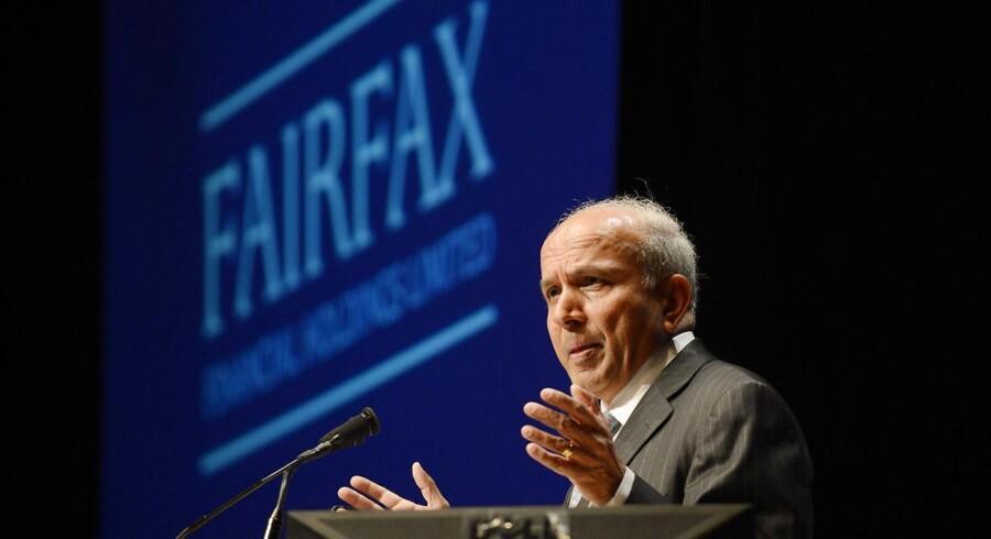 Fairfax' topchef, Prem Watsa, skal i dag lægge kortene på bordet og dermed afgøre Blackberrys fremtid. Arkivfoto: Aaron Harris, Reuters/Scanpix