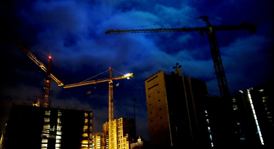 Pensionsselskaberne er parat til at hælde milliarder i OPP-byggeprojekter. Her ses andet byggeri i Ørestaden på Amager.