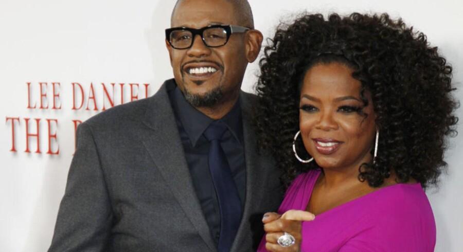 Oprah Winfrey og Forest Whittaker poserer til filmens premiere. Hovedrollen som butleren i Det Hvide Hus spilles af Forest Whitaker, mens Winfrey spiller hans hustru.