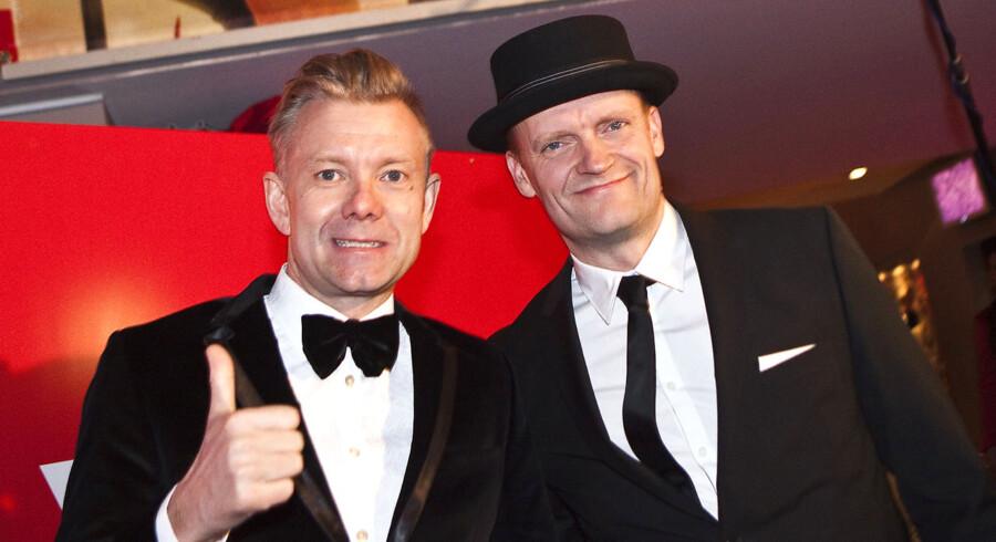 """Premiere på Frank Hvam og Casper Christensens """"Klovn the movie"""" i Imperial 15. dec. 2010. Her rød løber med Casper Christensen og Frank Hvam."""