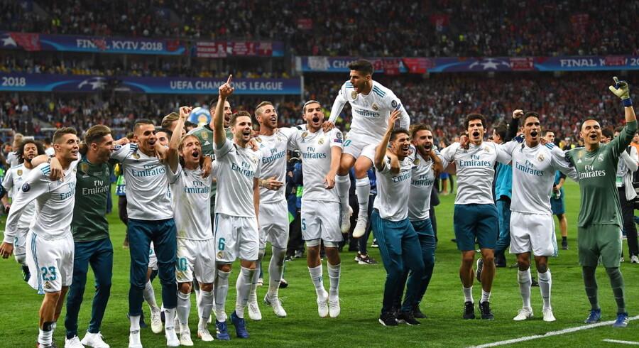 Real Madrids spillere i vild fejring