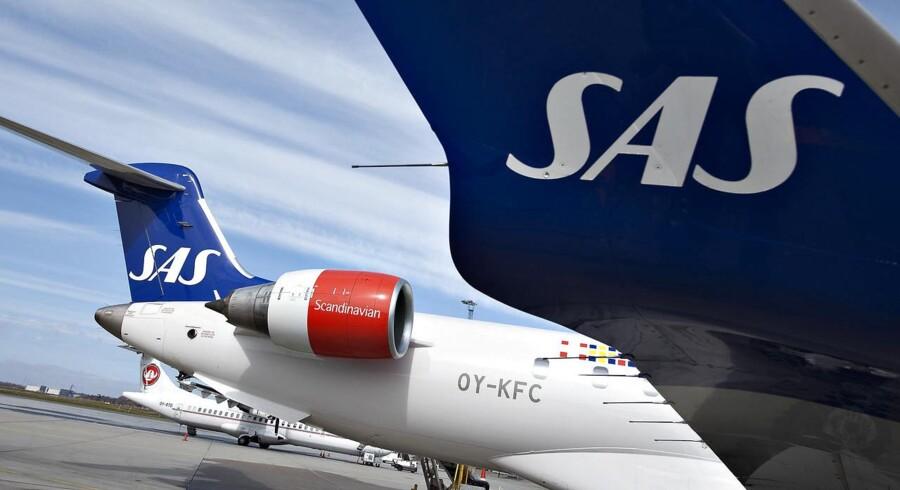 ARKIVFOTO. SAS kommer ikke til at drage fordel af de nuværende lave oliepriser og dermed spare millioner af svenske kroner. (Foto: Henning Bagger/Scanpix 2015)