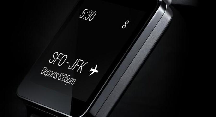 Sådan ser LGs kommende G Watch-ur ud. Det kommer i slutningen af juni. Foto: LG