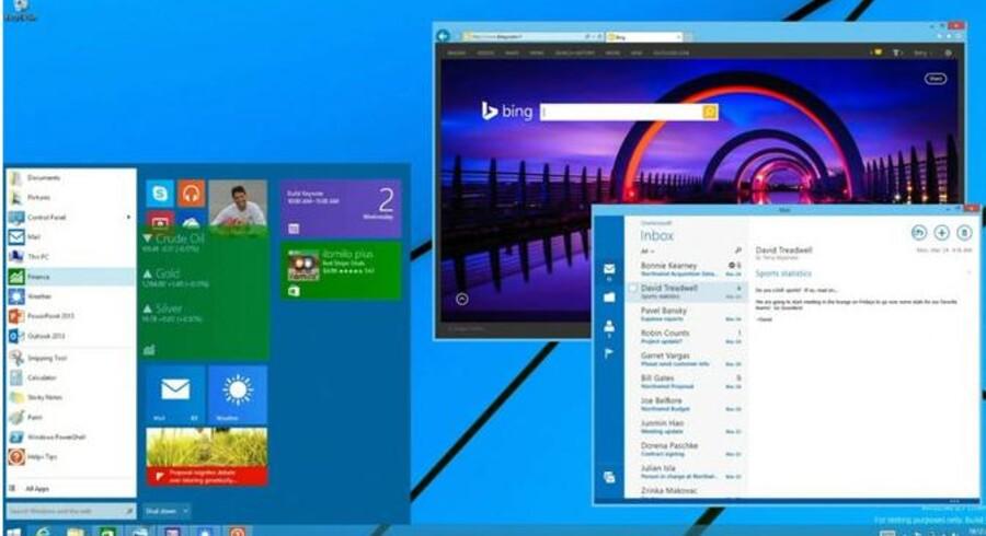 Startmenuen vender tilbage til Windows 8 - om end der ikke er sat tidspunkt på endnu. Microsoft arbejder ihærdigt på mange fronter for at få flere tilfredse kunder. Foto: Microsoft