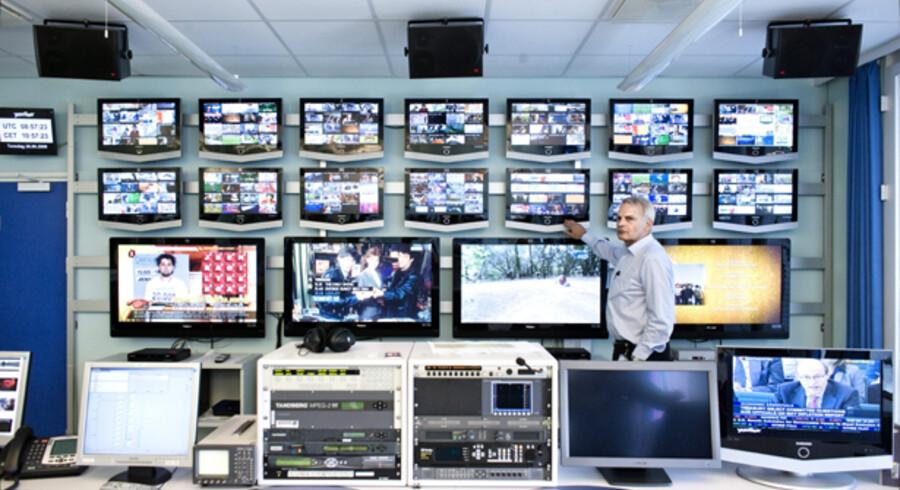 Kommandocentralen hos YouSee holder øje med, hvad der sker på samtlige kanaler.