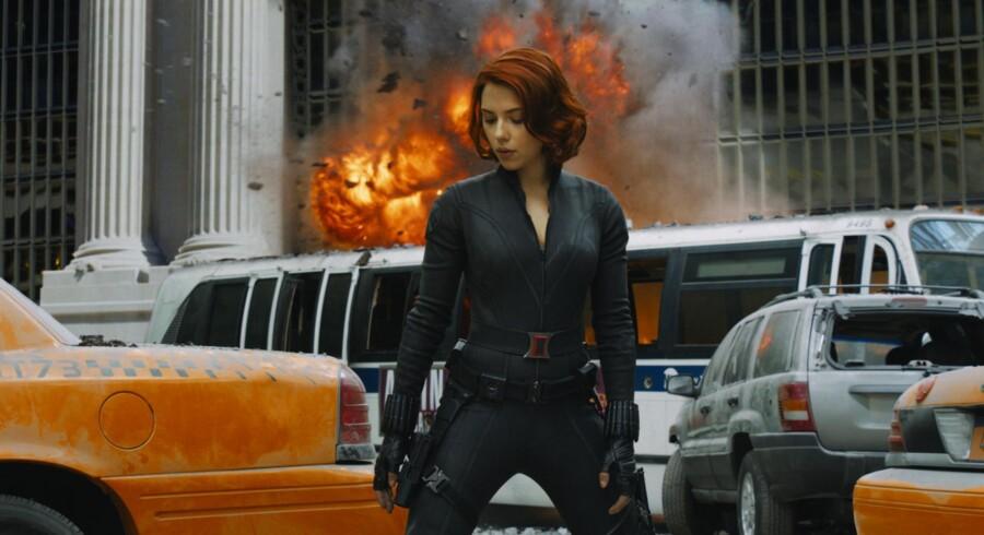 Der er styr på såvel effekter som karaktertegning i den både imponerende og underholdende »The Avengers«, der forhåbentlig kun er første film i en hel serie med superhelteholdet. Her Scarlett Johansson som sexede Black Widow, der bærer på en mørk fortid.