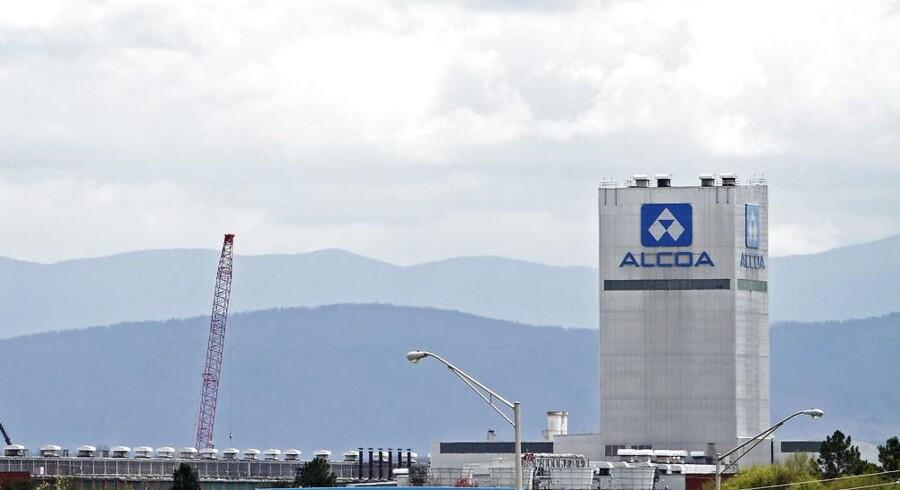 ARKIVFOTO. Alcoa-fabrik.