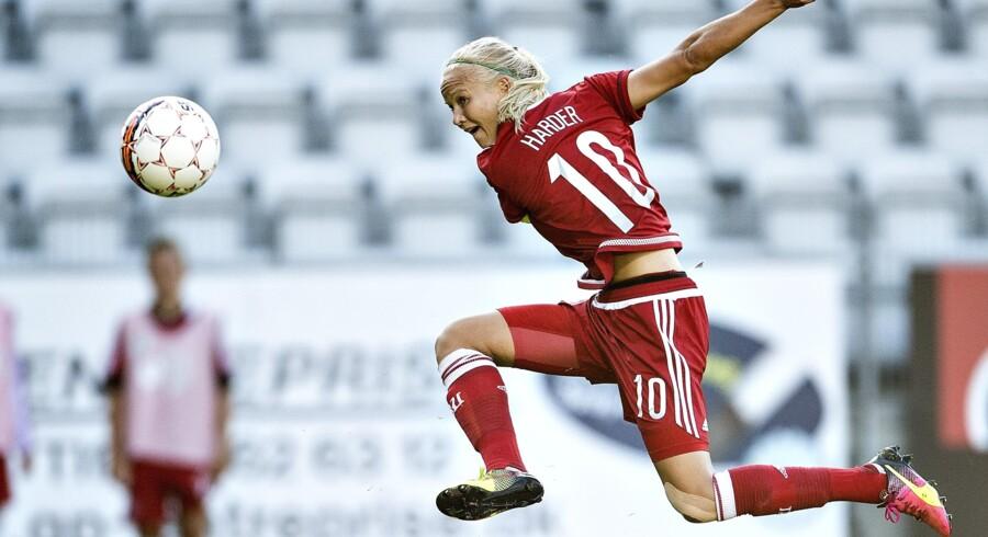 Pernille Harder havde stor succes i 2017. Scanpix/Henning Bagger