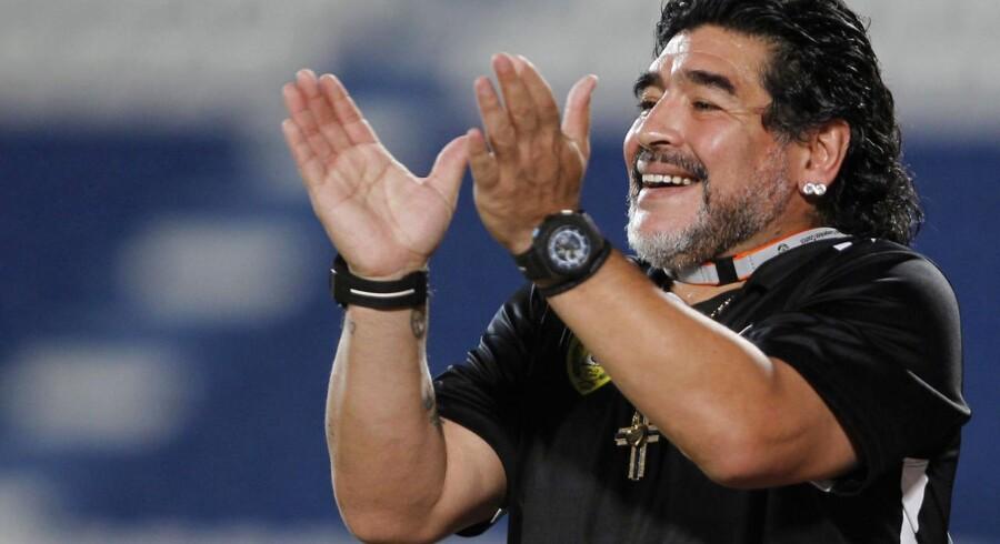 Diego Maradona (billedet) vil være FIFA's næste præsident.