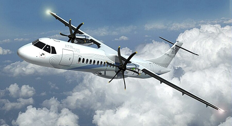 Jet Time skal flyve med lejede, spritnye ATR72-600 fly for SAS, der som navnet antyder har plads til hver 72 passagerer. Computertegning: ATR Aircraft
