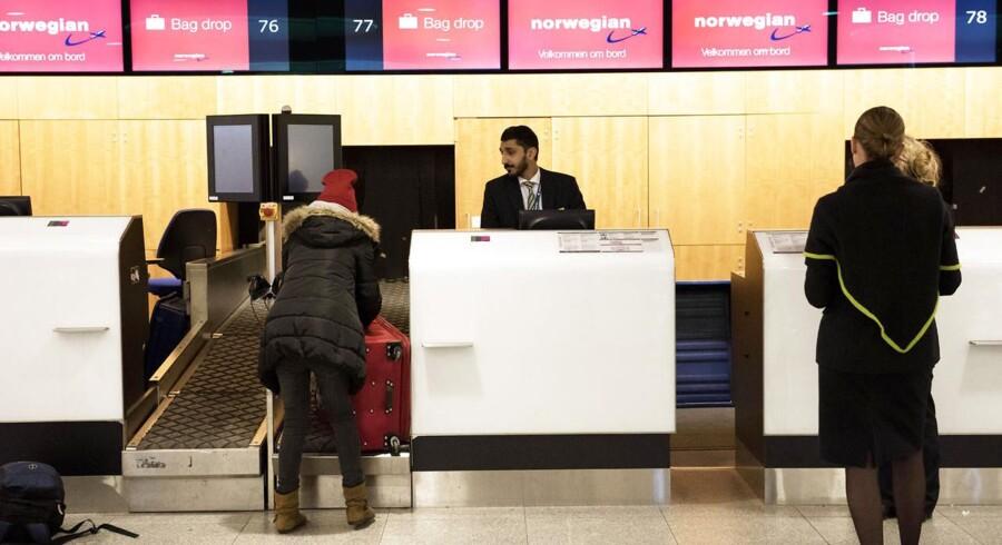 En strejke blandt flyselskabet Norwegians piloter betyder, at selskabet onsdag aflyser en lang række afgange. Københavns Lufthavn, onsdag den 4. marts, 2015.