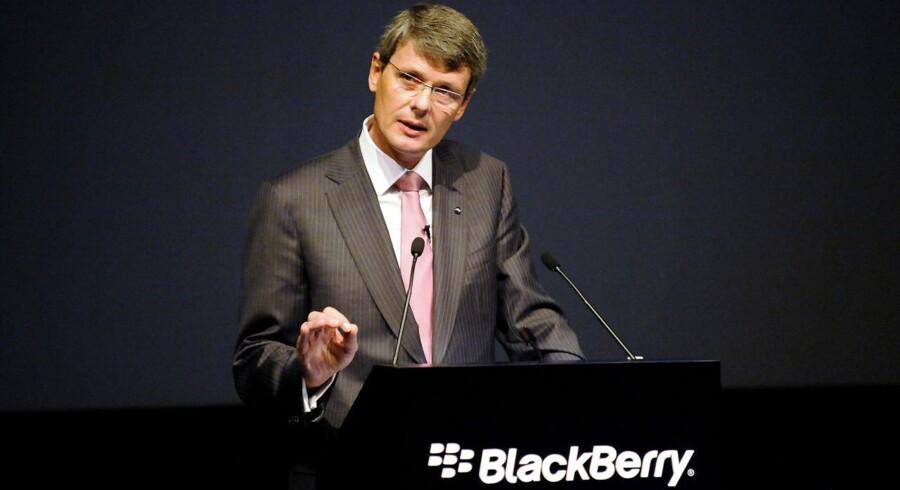 Blackberrys topchef, tyske Thorsten Heins, har sat en ny fyringsrunde i gang i den canadiske mobilproducent. Arkivfoto: Jon Blakcer, Reuters/Scanpix