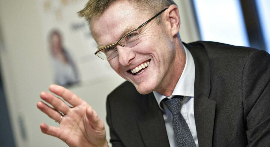 Lasse Nyby, direktøren Spar Nord, har god grund til at smile, efter banken onsdag fremlagde det bedste regnskab i selskabets historie. Foto: Henning Bagger