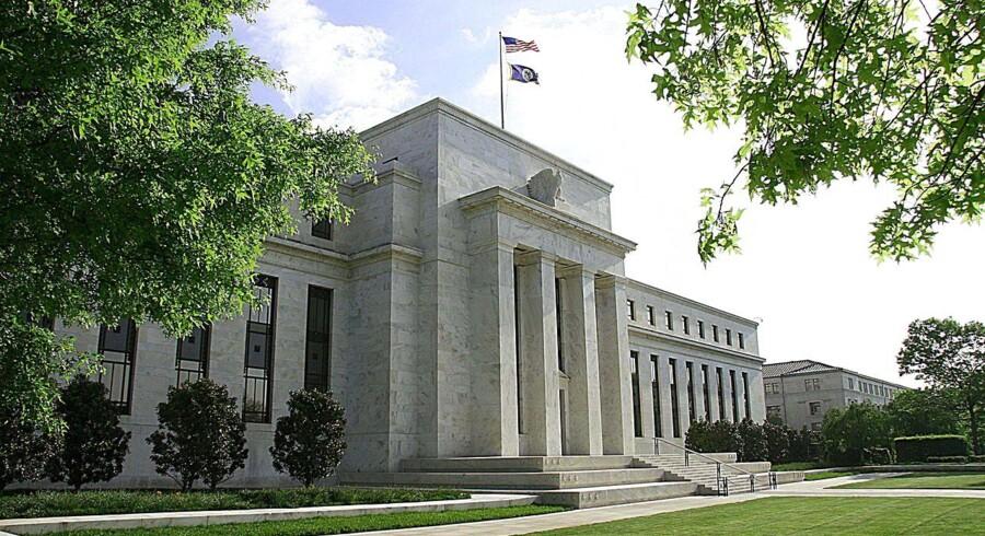 Dollar har bedste måned i et halvt år. ARKIVFOTO: Federal Reserve.