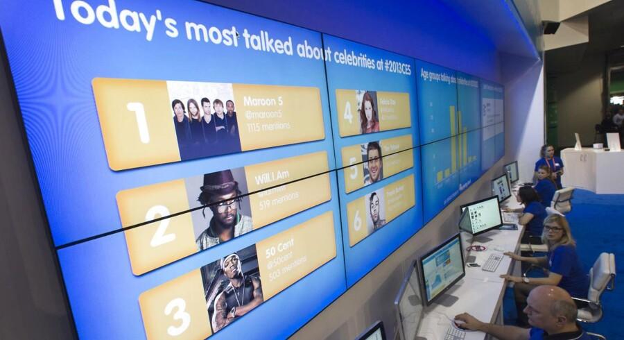 Salesforces stand til CES-messen i Las Vegas i januar.