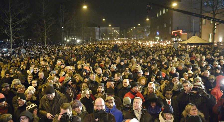 Mindehøjtidelighed mandag den 16. februar 2015 i anledning af terrorangrebet lørdag den 14. februar 2015.
