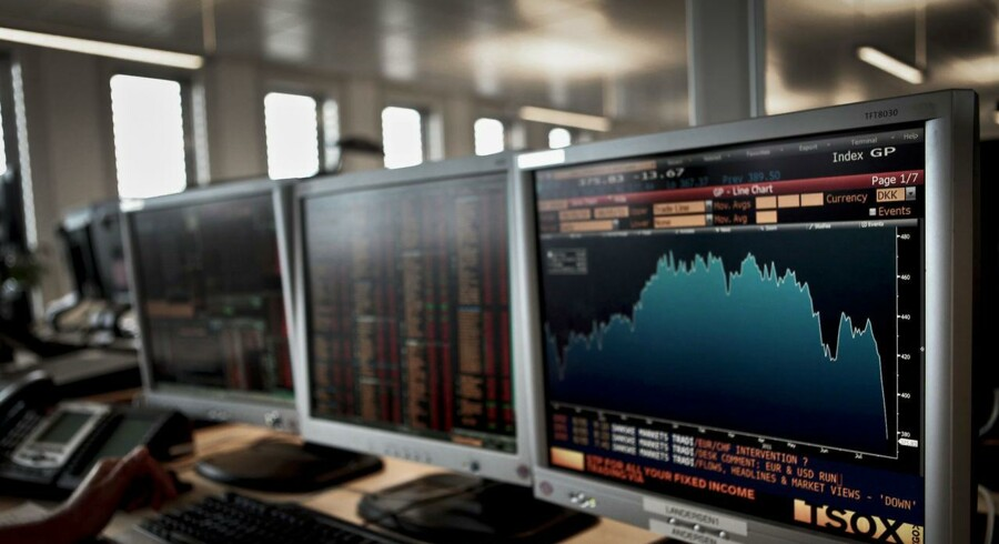 Danske Bank aktiehandel traderoom