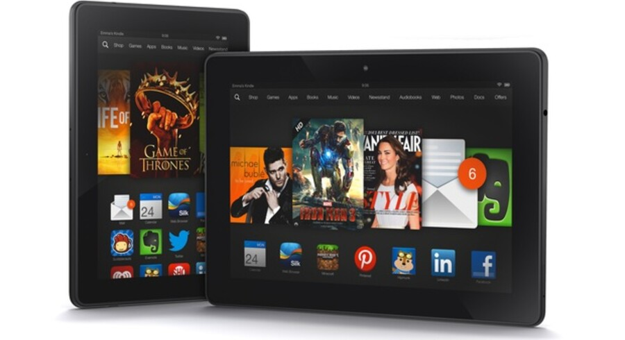De nye Kindle Fire HDX på 8,9 og 7 tommer kommer i handelen i november og december. Foto: Amazon
