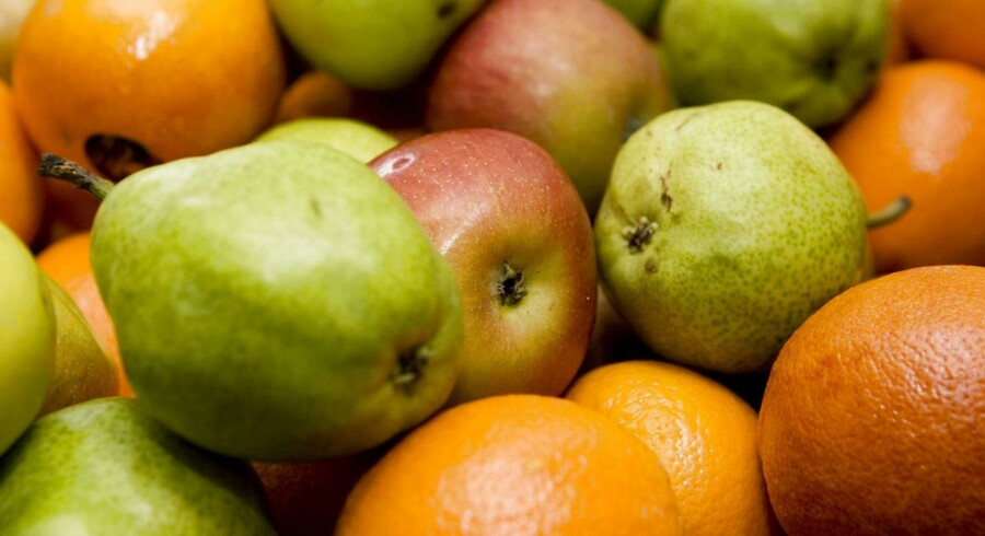 Blandede frugter.