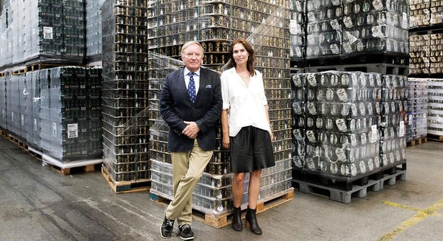 Harboe Bryggeri i Skælskør. Ejeren Bernd Griese Harboe og datteren Karina Harboe Laursen