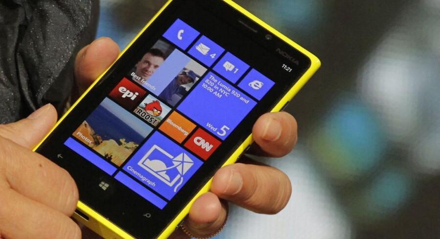 Nokias nye topmodel, Lumia 920, kommer virkelig på arbejde, hvis den skal hente fortsat vigende territorier hjem til den pressede, finske mobilgigant. Arkivfoto: Scanpix
