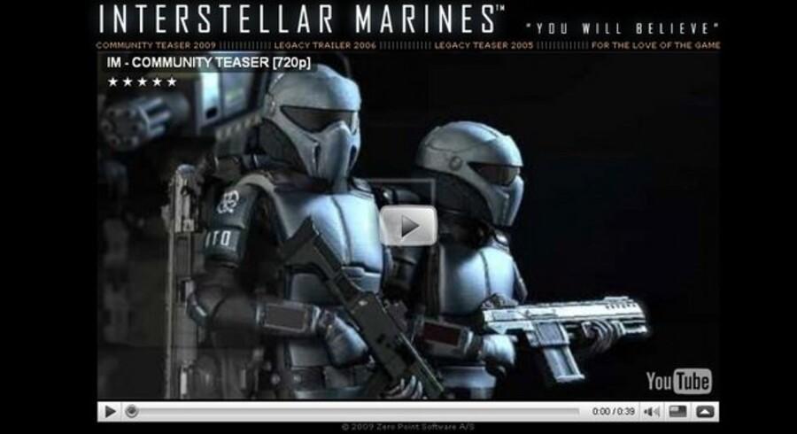 Det danske computerspil »Interstellar Marines« skal via nettet samle spillernes hjælp til udviklingen. Derfor åbner interstellarmarines.com i dag, fredag.