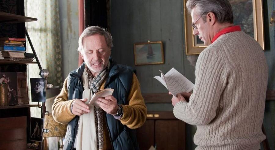 """Fabrice Luchini og Lambert Wilson i en moderne fransk udgave af Molières """"Misantropen""""."""