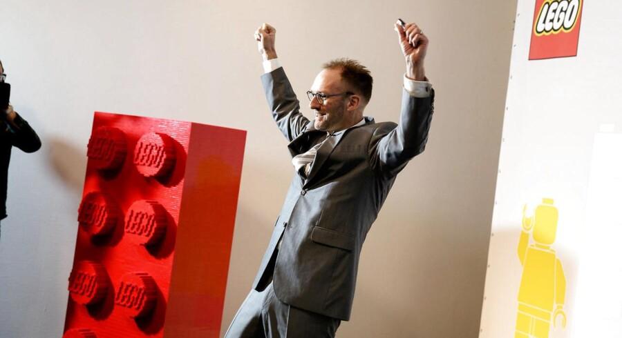 Jørgen Vig Knudstorp, adm. direktør i Lego fremlægger legetøjskoncernens årsregnskab på et pressemøde i Billund onsdag d. 25 februar 2015. Lego pressemøde. Fremlæggelse af regnskab ved Jørgen Vig Knudstorp