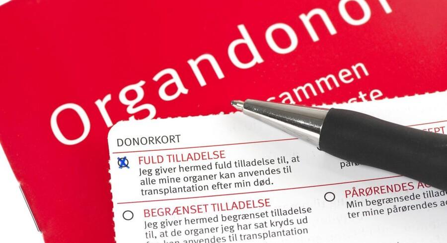ARKIVFOTO. Donorkort fra Donorregistret. (Foto: Christian Lindgren/Scanpix 2014)