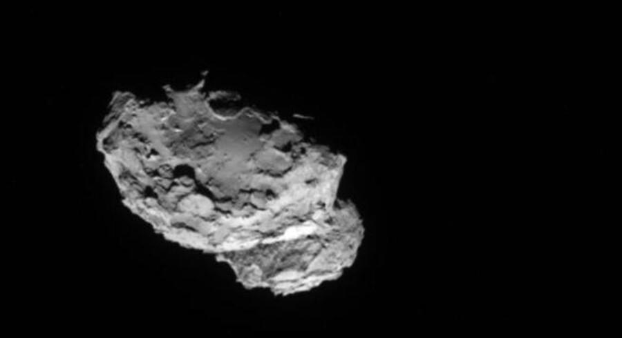 Churyumov-Gerasimenko kometen som fotograferet af Rosetta sonden 4 august.