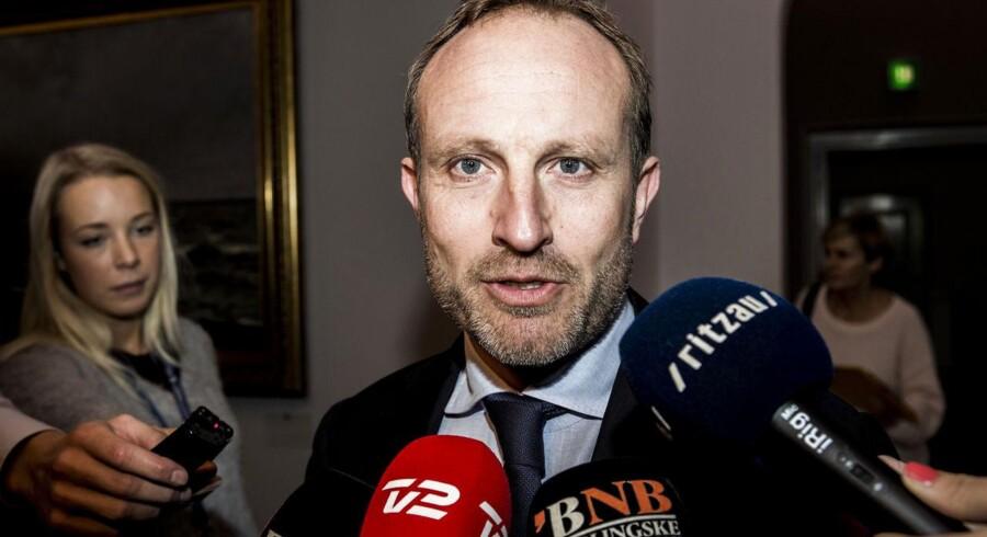 Det Udenrigspolitiske Nævn mødes torsdag 23. oktober 2014 om Hedegaard-sagen. Her Martin Lidegaard.