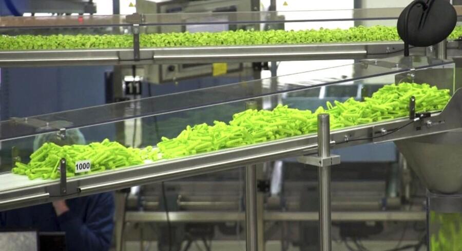 Her ses Tresiba på produktionsbåndene hos Novo Nordisk, der med godkendelsen af det vitale produkt kan forvente at bibeholde sin stærke vækst.
