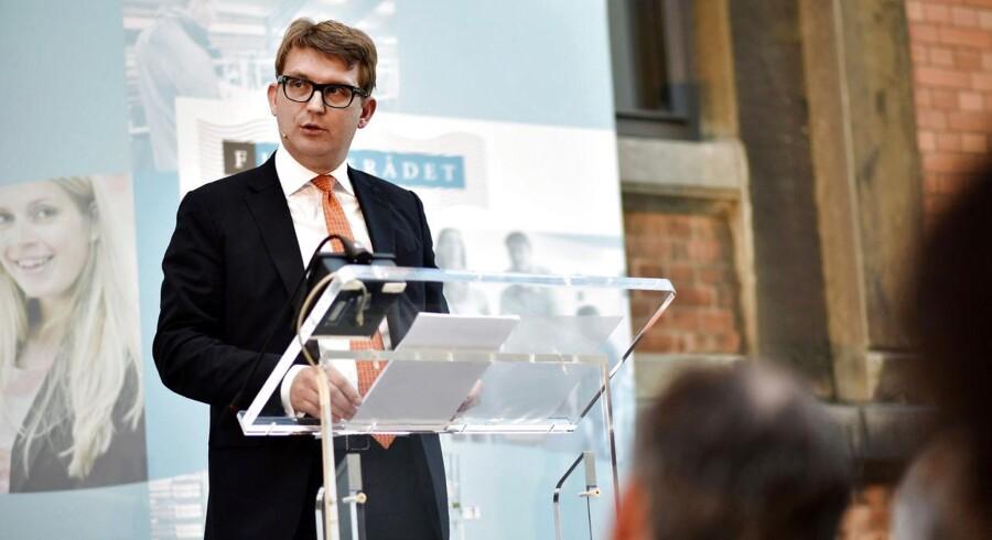 Troels Lund Poulsen ved Finansrådets årsmøde mandag.