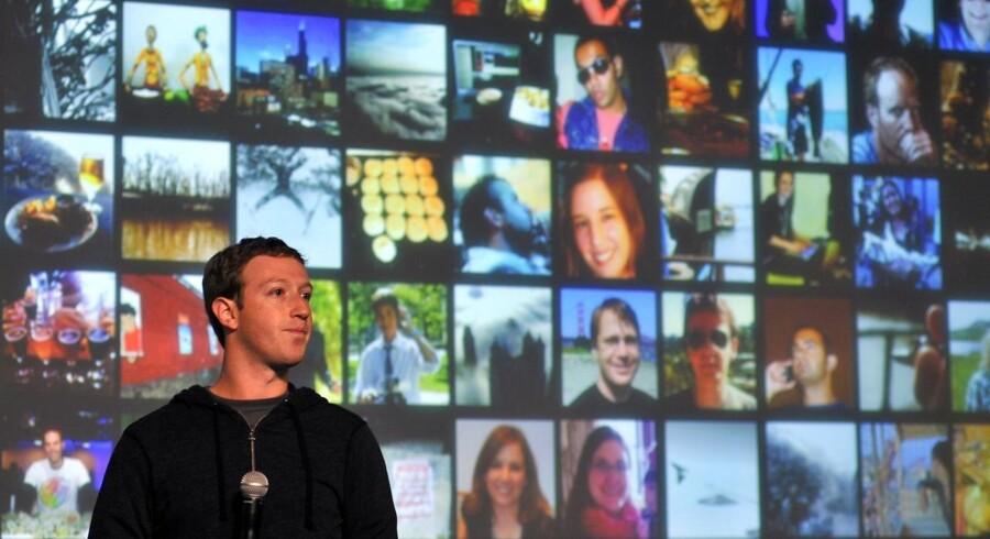 Facebook-stifter og topchef Mark Zuckerberg præsenteret 15. januar Graph Search som en kommende ny funktion til at søge i indhold delt af venner og andre i det sociale netværk. Arkivfoto: Josh Edelson / AFP / Scanpix