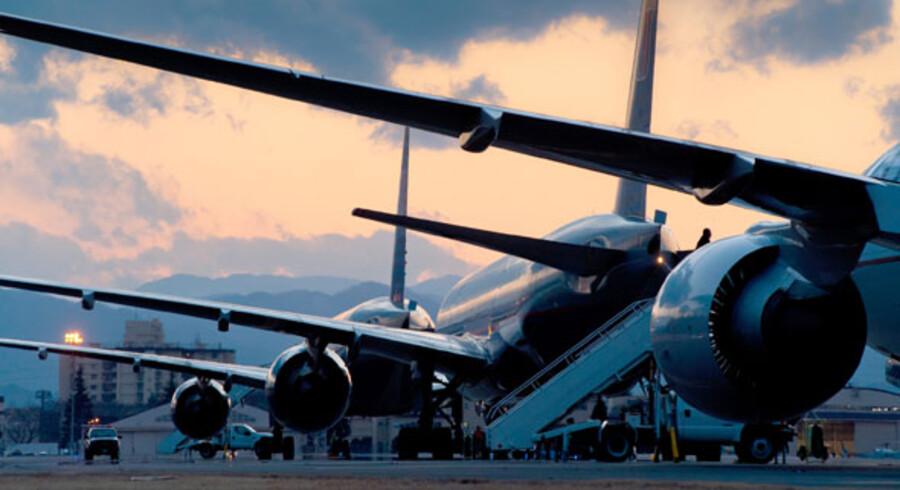 Omdirigerede fly fra Narita Lufthavn til Yokota-luftbasen den 11. marts.