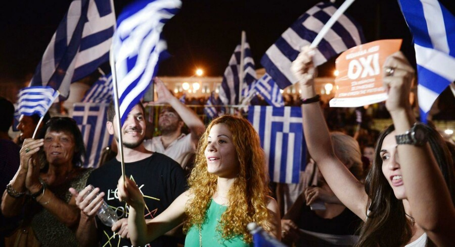 Det græske nej til hjælpepakken fra landets kreditorer får mandag morgen det danske eliteindeks til at falde.