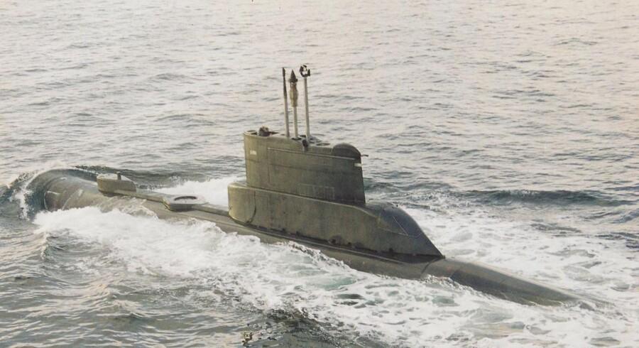 ARKIVFOTO af ubåden S321 NORDKAPEREN af NARHVALEN-klassen.