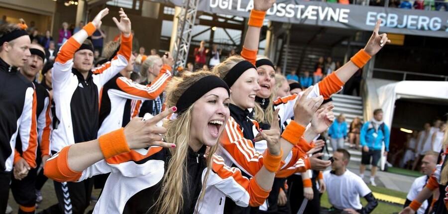 En sund livsstil i 20erne gavner vores helbred i 40erne og kan medvirke til, at vi undgår hjertekarsygdomme. Her åbningsceremonien fra DGI Landsstævne 2013, der er Danmarks største idrætsevent med 23.500 idrætsudøvere.