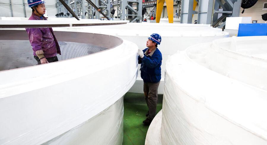 Goldwind - produktions hal hos kinesiske vindmølle producent Goldwind