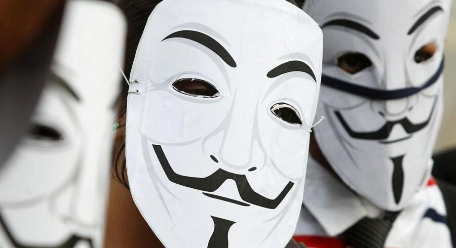 Aktivist- og hackergruppen Anonymous er blandt dem, der har lavet aktioner mod ACTA.