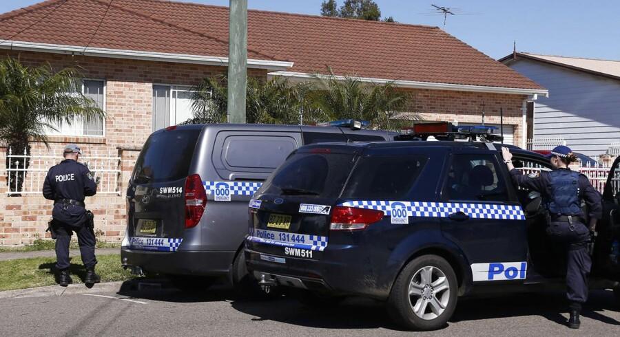 Antiterroraktion i en forstad til Sydney.