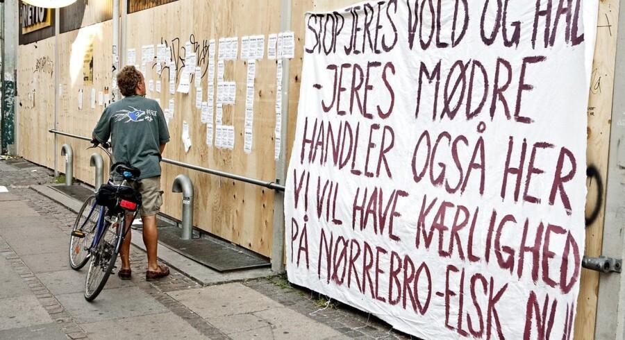 Kommunikation fra Nørrebro-borger til Nørrebro-borger efter Netto i Blågårdsgade i 2010 holdt lukket efter at butikkens facade blev smadret.
