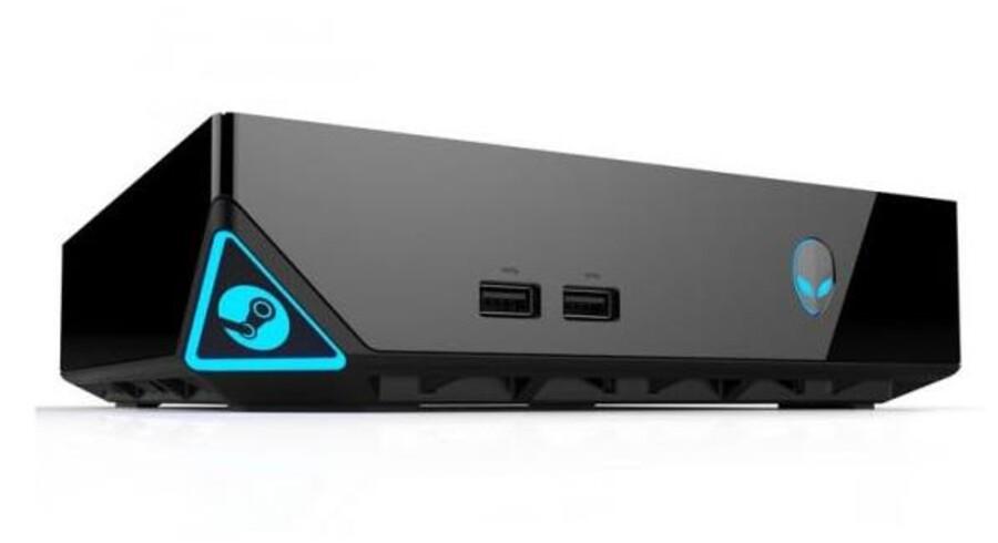 Konsolkrigen mellem Playstation 4 og Xbox One raser, og nu melder en ny spiller sig på banen. Steambox er en blanding mellem en spilkonsol og en computer og er netop præsenteret på CES-messen i Las Vegas. Foto: Alienware