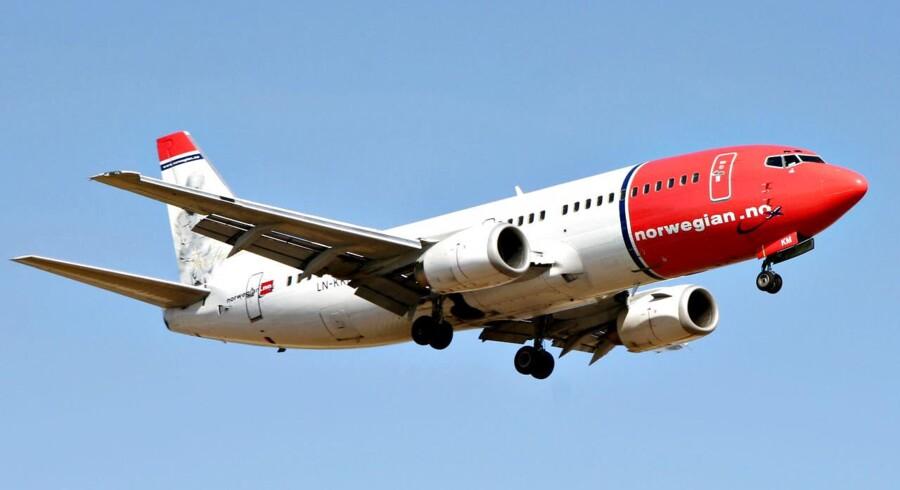 Lavprisflyselskabet Norwegian skal ikke betale kompensation til svenske kunder, der mod forventning ikke har fløjet med Dreamliner-flyet. Foto: Brian Bergmann/Scanpix 2013