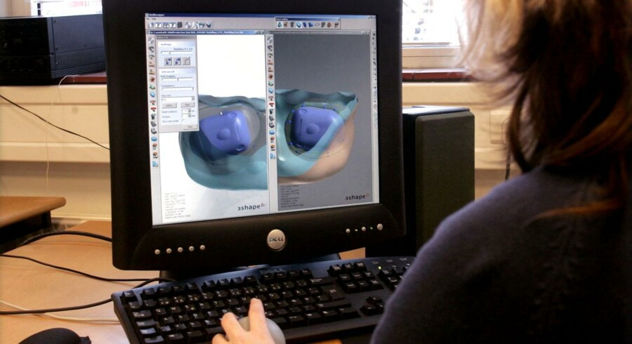 Produktion af høreapperater på virksomheden Widex.